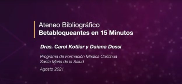 Ateneo Bibliográfico: Betabloqueantes en 15 minutos